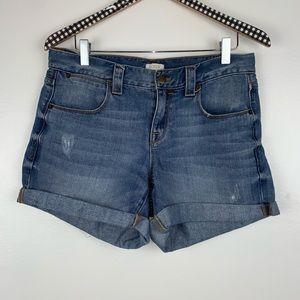 J. Crew Factory Cuffed Denim Jean Shorts 28 V3831